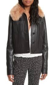diane von furstenberg faux fur collar leather jacket nordstrom