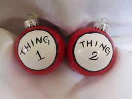 dr seuss thing 1 and thing 2 ornaments thing 1 and thing 2