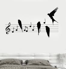 wall decal notes music birds romantic bedroom vinyl sticker z3237 wall decal notes music birds romantic bedroom vinyl sticker z3237
