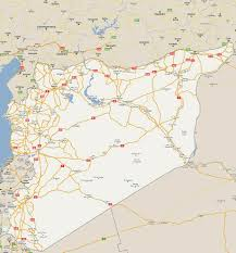 Maps Syria by Detailed Road Map Of Syria With All Cities Syria Asia