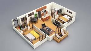 3d home architect design sles 3d floor plan 2bed projeler pinterest 3d
