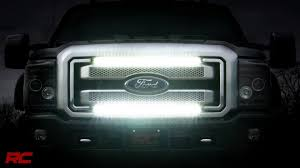 Ford F350 Truck Grills - 2011 2016 ford super duty grille mount light bar kit by rough