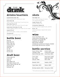 free drink menu template portablegasgrillweber com