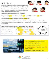 adjectives 1st 3rd grade lesson plan clarendon learning
