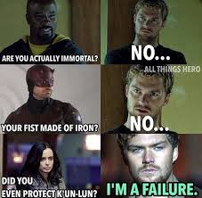 Failure Meme - 19 memes for people who love the marvel shows on netflix smosh