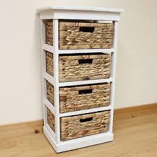 Storage Unit Bathroom Hartleys Large White 4 Basket Chest Home Storage Unit Bathroom