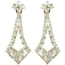 clip on dangle earrings dramatic rhinestone clip on dangle earrings polyvore