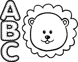 abc animal lion coloring wecoloringpage
