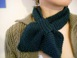 knitting pattern bow knot scarf bow tie scarflet pattern knitting