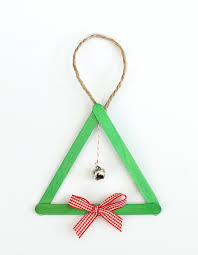 popsicle stick and jingle bell tree ornament buggy and buddy