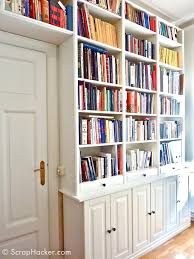 Narrow Billy Bookcase by Knowing We Would Be Mounting A 10 Sliding Library Ladder To The