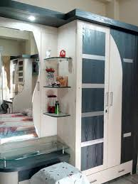 wardrobe with dressing table designs for bedroom indian table