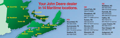 Moncton Canada Map by New And Used John Deere Equipment At Green Diamond Equipment