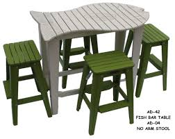 Outdoor Furniture Small Space by Fishtales Ad 42 Fish Bar Table W Bar Stools Whimsical Fish Bar