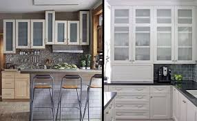 shaker style glass cabinet doors glass front kitchen cabinets design pertaining to for doors decor
