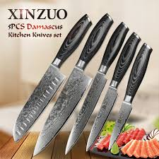 how to store kitchen knives aliexpress buy xinzuo 5pcs kitchen knives set 67 layer