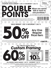 ac moore coupons list 60 percent off print coupon king