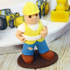 construction cake toppers builder construction worker cake topper by cake