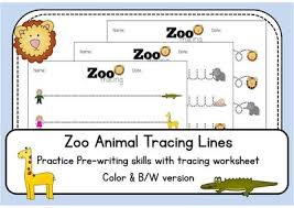 tracing worksheets zoo animals color and black u0026white morning