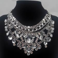 chunky fashion necklace images Statement chunky alloy necklaces pendants vintage silver chain jpg
