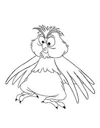 merlin the wizard change into little owl coloring pages bulk color