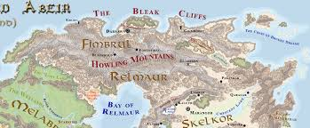 Forgotten Realms Map Relmaur Forgotten Realms Wiki Fandom Powered By Wikia