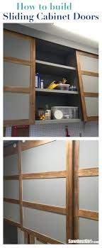 Make Sliding Cabinet Doors Easy Diy Sliding Doors For Cabinets Sawdust