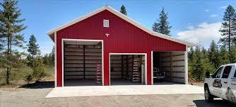 Barn Garages Build A Garage Kit Metal Building Kits Image Of Pole Barn Photos
