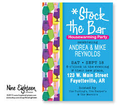 stock the bar party stock the bar housewarming party invitations alesi info