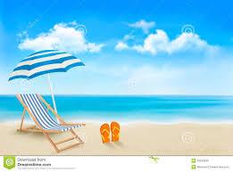 Beach Sun Umbrella Seaside View With An Umbrella Beach Chair Stock Vector Image