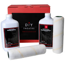 diy theatre white platinum projector screen paint kit