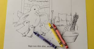 los pollitos a story and coloring book spanish playground