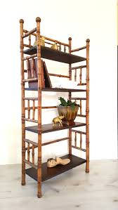 antique bamboo bookshelf bookcase etagere 4 tier shelving