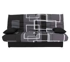 housse assise canapé banquette lit clic clac porto labyrinthe noir gris banquettes but