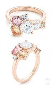 custom cluster v shaped ring bario neal 7 gold rings that will melt your heart sapphire