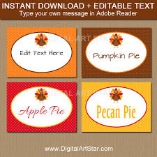 thanksgiving labels thanksgiving buffet cards editable printable thanksgiving