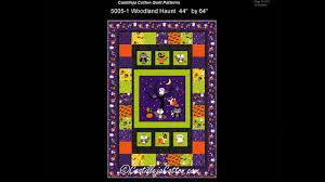 autumn and halloween quilt patterns by castilleja cotton 2017