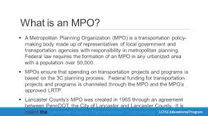 What Is In Law Unit Unit 1 The Transportation Planning Process And The Role Of The Mpo