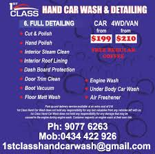 Cheap Interior Car Cleaning Melbourne 1st Class Hand Car Wash U0026 Detailing Home Facebook