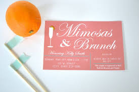 mimosa brunch invitations 13 bridal shower invite ideas
