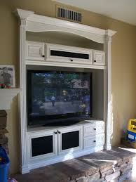 Media Room Built In Cabinets - white built in entertainment center family room traditional with