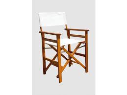 chaise metteur en fauteuil de metteur en scène pliant peru blanc jardin sam