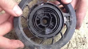 pushmowerrepair com briggs 3 5hp recoiling a starter spring