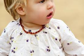 amber necklace baby teething images Baltic amber teething necklace for babies unisex jpg