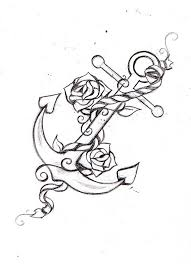 drawing simple anchor designs in conjunction with simple