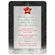 christmas tree night sky holiday party invitation