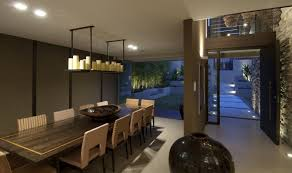 large square dining room table arrangements with recessed lighting