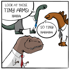 T Rex Arms Meme - tiny arms the oatmeal