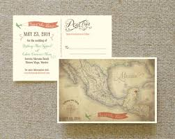 save the date postcard vintage map postcard save the date mexico