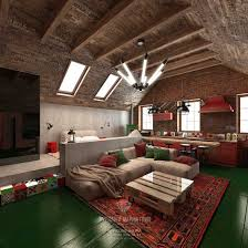loft style attic with a gable roof design design projects and